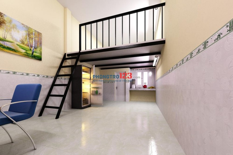 Phòng tiện nghi có gác mới, 20m, 3.2tr, đối diện chợ Võ Hành Trang, P.13, Tân Bình