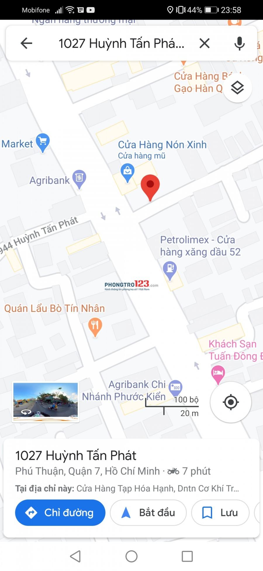 Phòng trọ ở Huỳnh Tấn Phát Q7 giá rẻ gần trung tâm