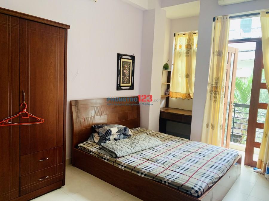 Cho thuê phòg full nội thất p Nguyễn Cư Trinh, free wifi, nước, máy giặt, giá 4tr6