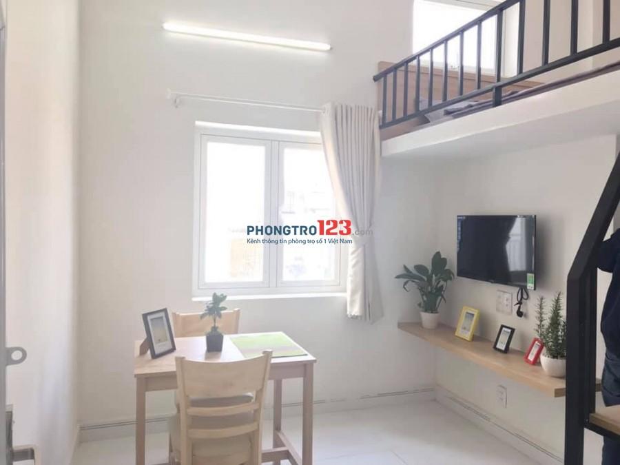 Phòng trọ cho thuê đẹp, nội thất đầy đủ, diện tích 25m2 có gác, cửa sổ