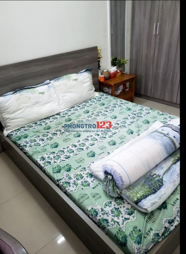 Chính chủ cho thuê căn hộ Võ Đình Q12 đầy đủ nội thất 50m2 2pn 2wc giá 6,5tr/th