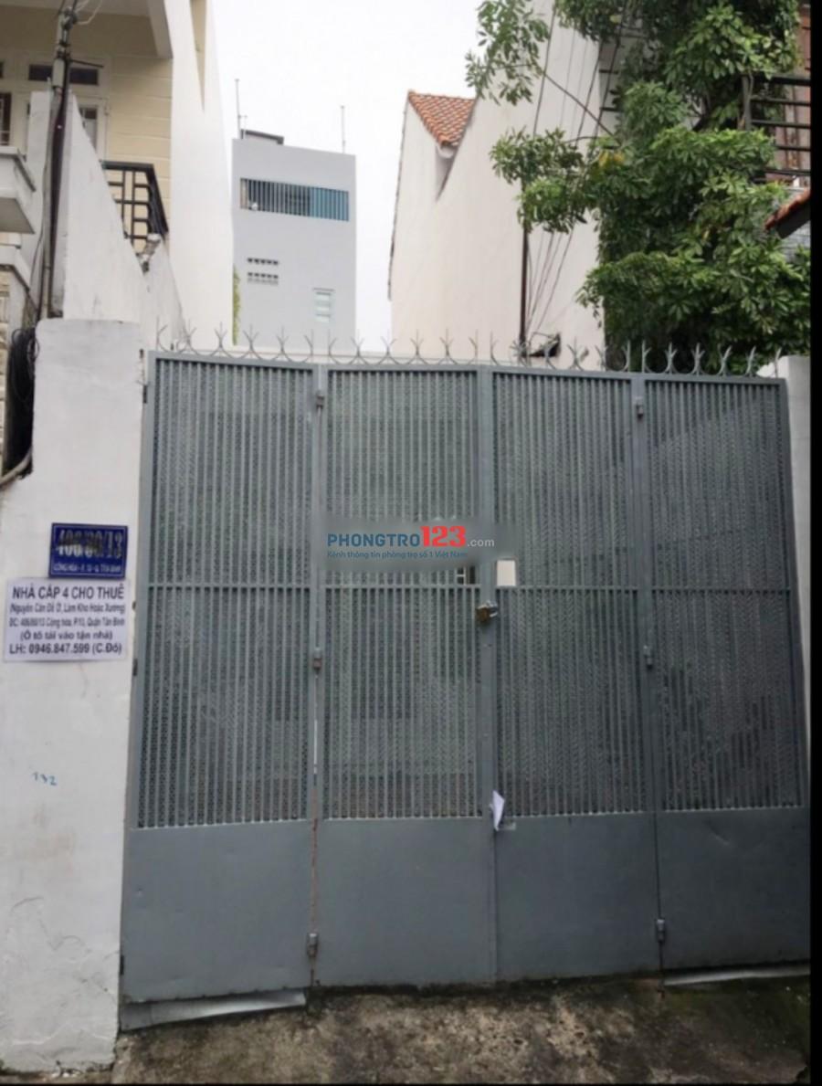 Chính chủ cho thuê nhà nguyên căn 4x26 hẻm xe tải tại số 406/80/13 Cộng Hòa P13 Q Tân Bình