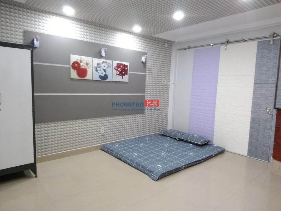 Phòng trọ mới set up, full nội thất, 24m2, giờ tự do