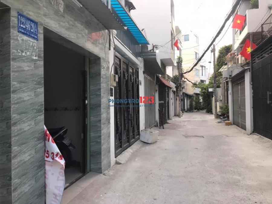Cho thuê nhà nhỏ tại 122/46/20A Bùi Đình Túy, P12, Q. Bình Thạnh.