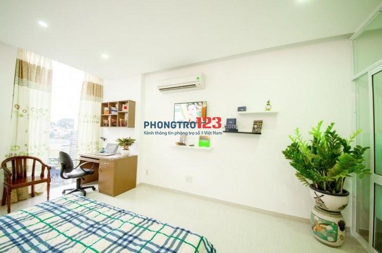 Phòng 35m2, full tiện nghi ban công đẹp mới ngay Thành Thái, Q10, giá 6,5tr