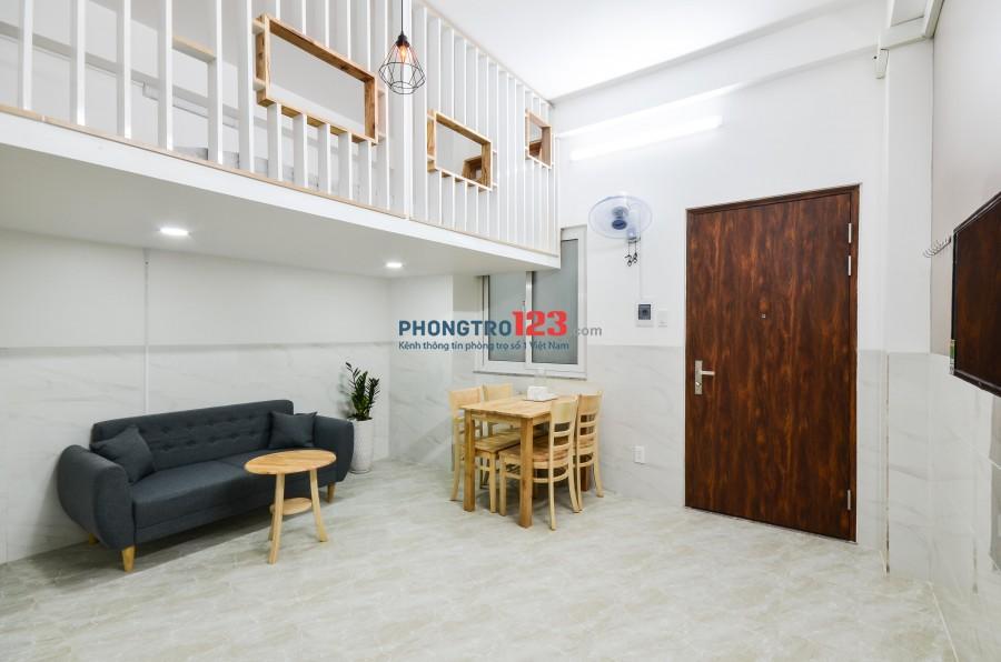 Cho thuê căn hộ dịch vụ, có Gác 40m2, tiện nghi Etown- Cộng Hòa