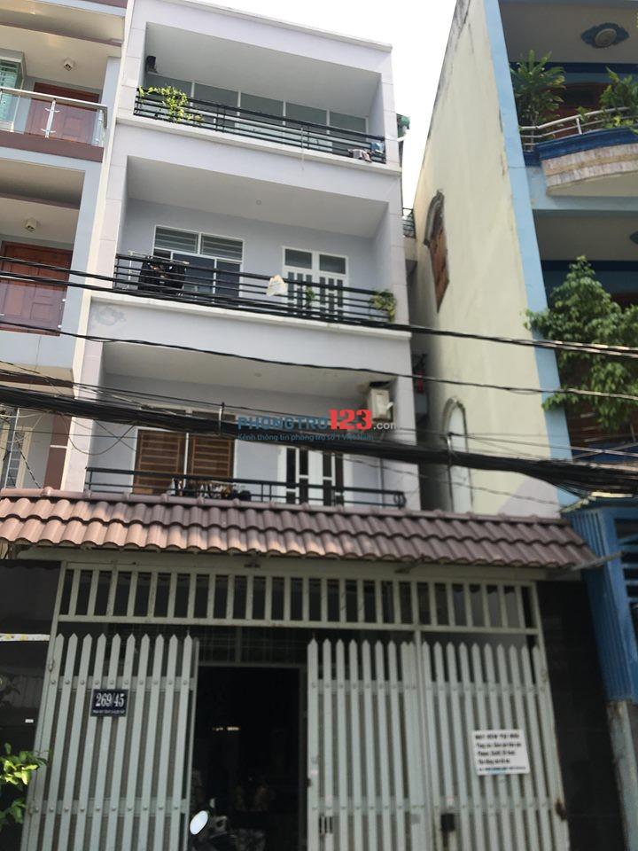 Cho thuê phòng đẹp có ban công - HXH 269/45 Phan Huy Ích, P. 14, Q. Gò Vấp giá giảm mùa dịch