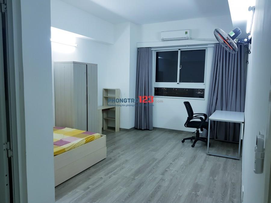 Cho thuê Phòng trong Căn hộ (80m2) Chung cư 1050 Chu Văn An, 2 PN lớn, 2WC, nội thất, cửa sổ