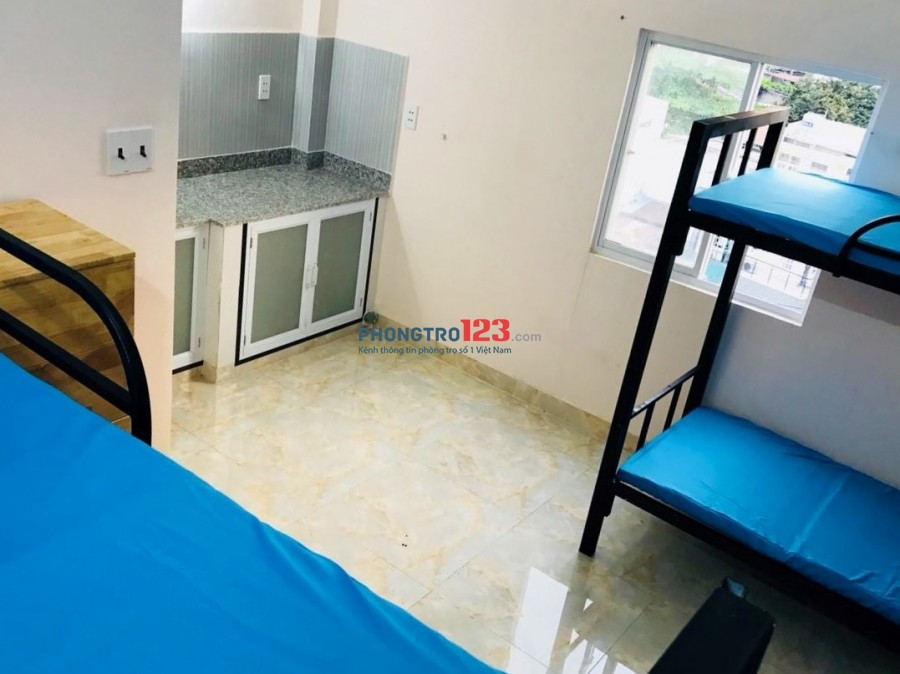 KTX Full nội thất, có thang máy, bảo vệ, 24/24-Đường Huỳnh Khương An