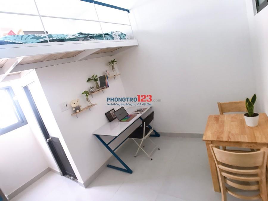Phòng đầy đủ tiện nghi ngay cầu Điện Biên Phủ giáp Q1 gần ĐH UEF, Hồng Bàng 25m2