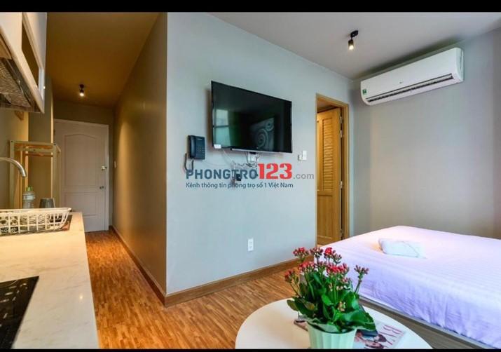 Chính chủ cho thuê căn hộ Studio Full nội thất chuẩn 3 sao tại Trung Tâm Bùi Thị Xuân Q1