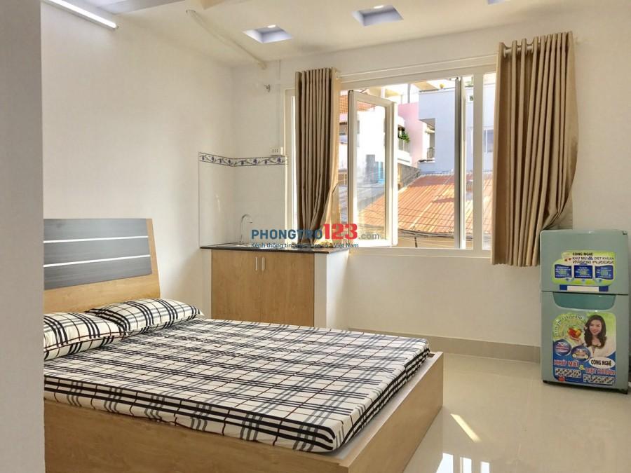Phòng 23m2 cửa sổ lớn Hoàng Hoa Thám, quận Bình Thạnh, full nội thất, giờ giấc tự do