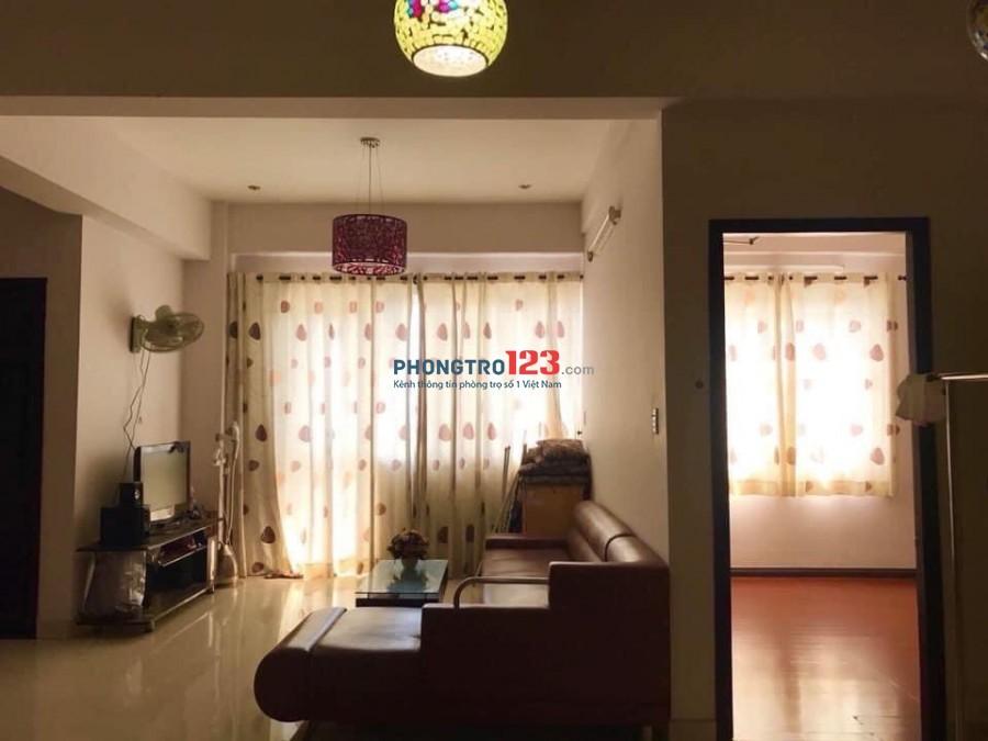 Cần nữ ở ghép phòng trong căn hộ chung cư, nội thất đầy đủ