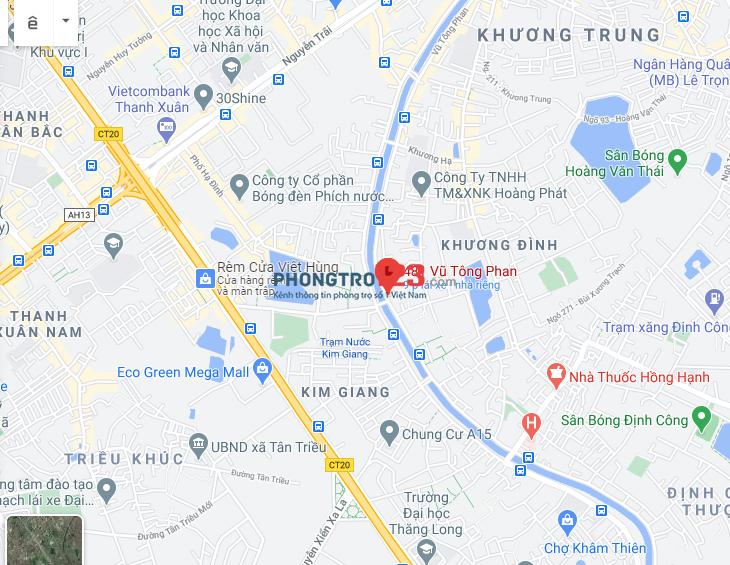 Cho thuê phòng Vũ Tông Phan, Thanh Xuân giá 1,25 triệu ( đủ đồ )
