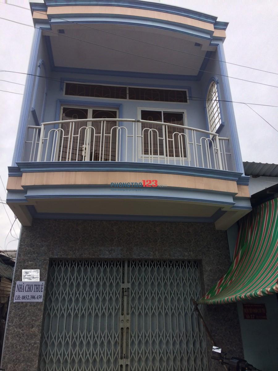 Cho thuê nhà nguyên căn, mặt tiền diện tích 3.5x20m, 1 trệt, 1 lầu