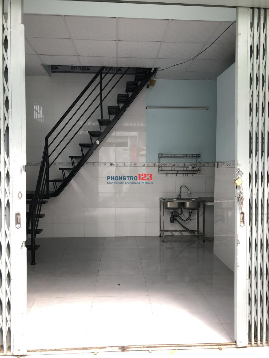 Phòng trọ mặt tiền hẻm có lầu quận GV