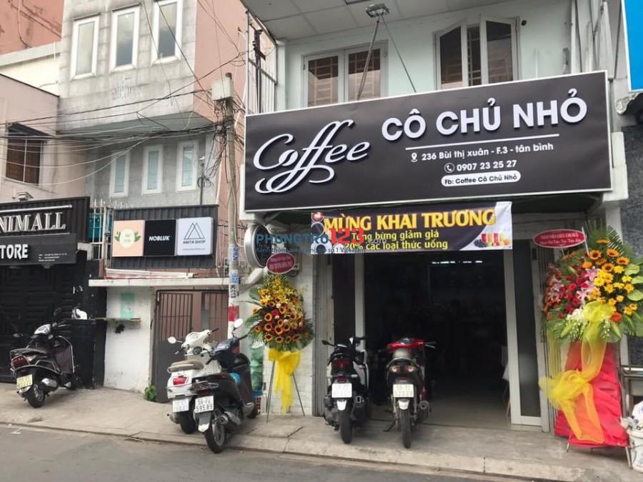 Chính chủ cần sang mặt bằng quán cafe Mặt tiền 236 Bùi Thị Xuân Phường 3 Q Tân Bình