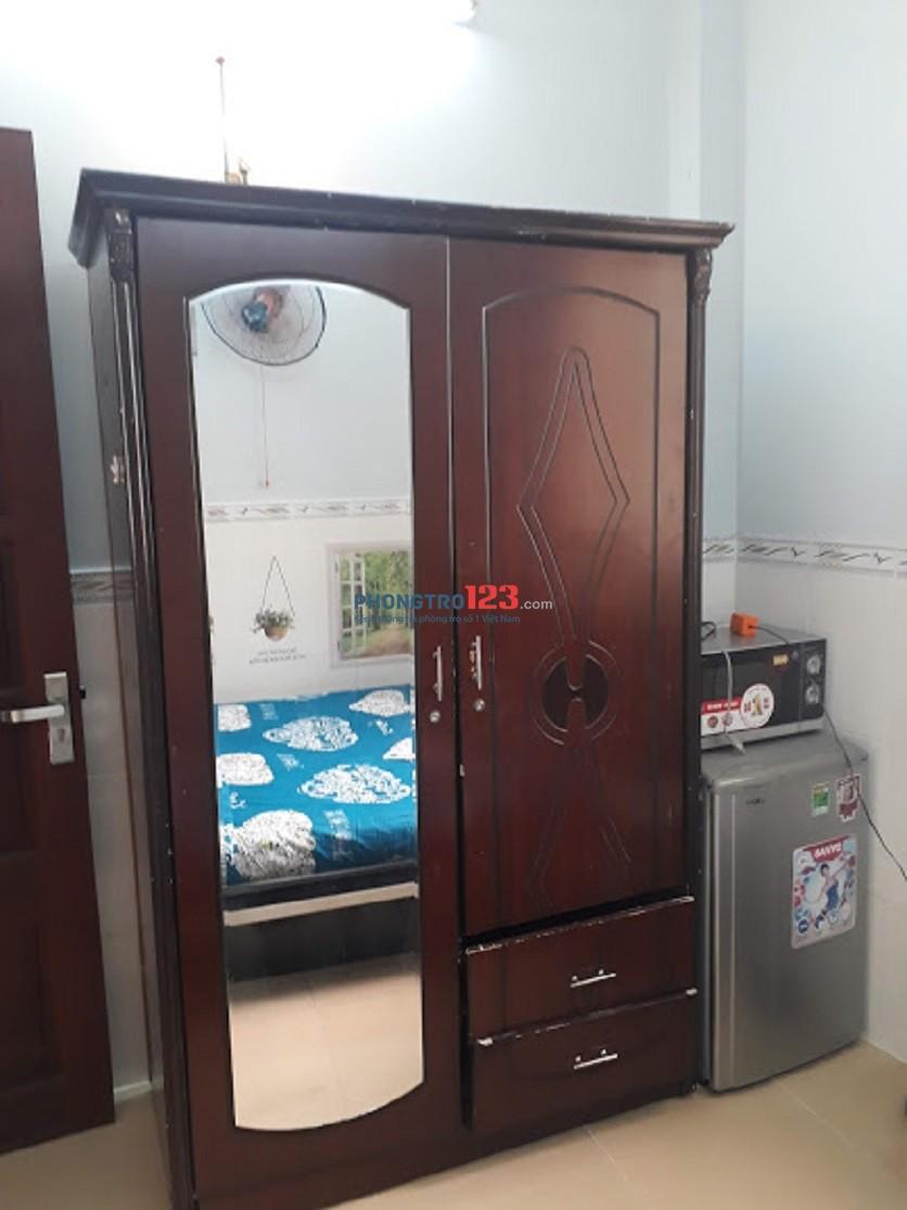 Cần cho thuê phòng máy lạnh Quận 4- 14m2. Cửa sổ thoáng mát cho sinh viên và NVVP thuê