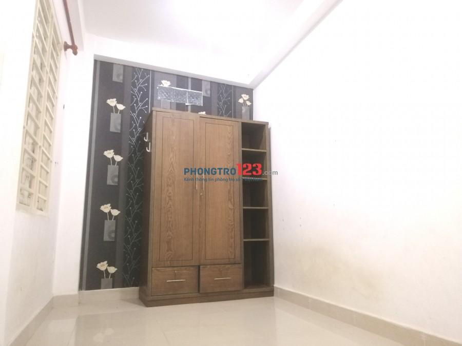 Phòng trọ giá rẻ có máy lạnh + tủ đồ lớn ngay sân bay TSN quận Tân Bình
