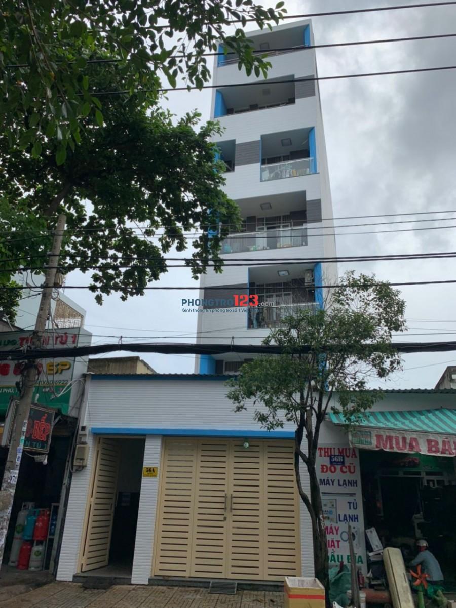 Phòng trọ mới xây xong rất đẹp 6 tầng, có thang máy, wc riêng tại Quận Tân Phú - gần trường Đại Học Công Nghệ Thực Phẩm