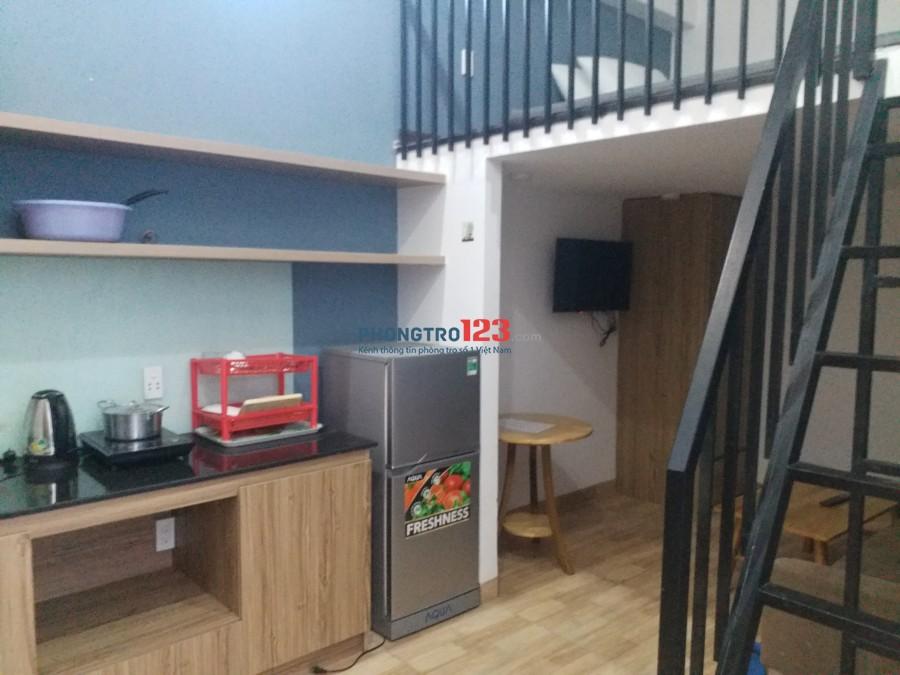 Cho thuê căn hộ sát biển Quận Sơn Trà phòng mới rộng rãi có gác lững