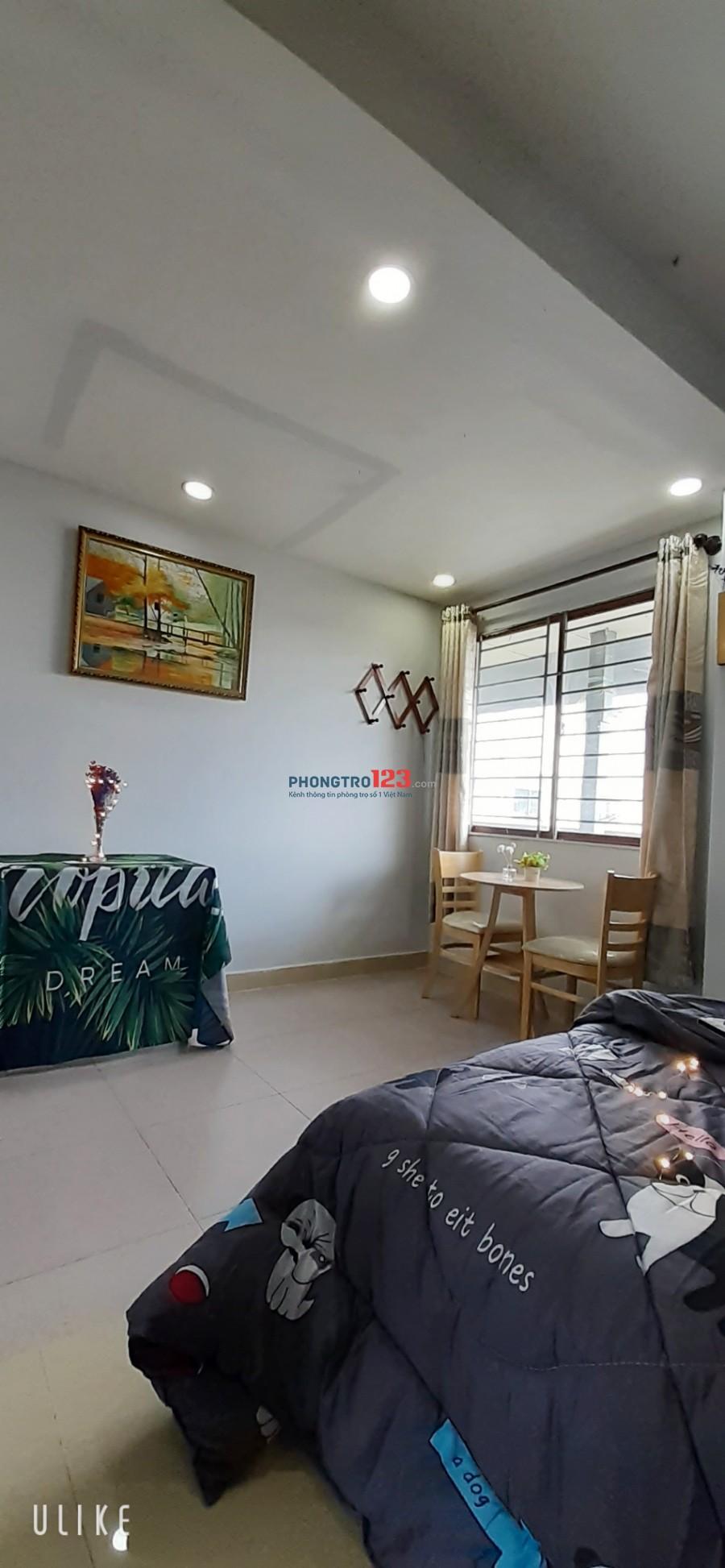 Phòng FULL NỘI THẤT, đối diện Lotte Cộng Hoà, có bảo vệ - thang máy, giá chỉ 3.5tr/th