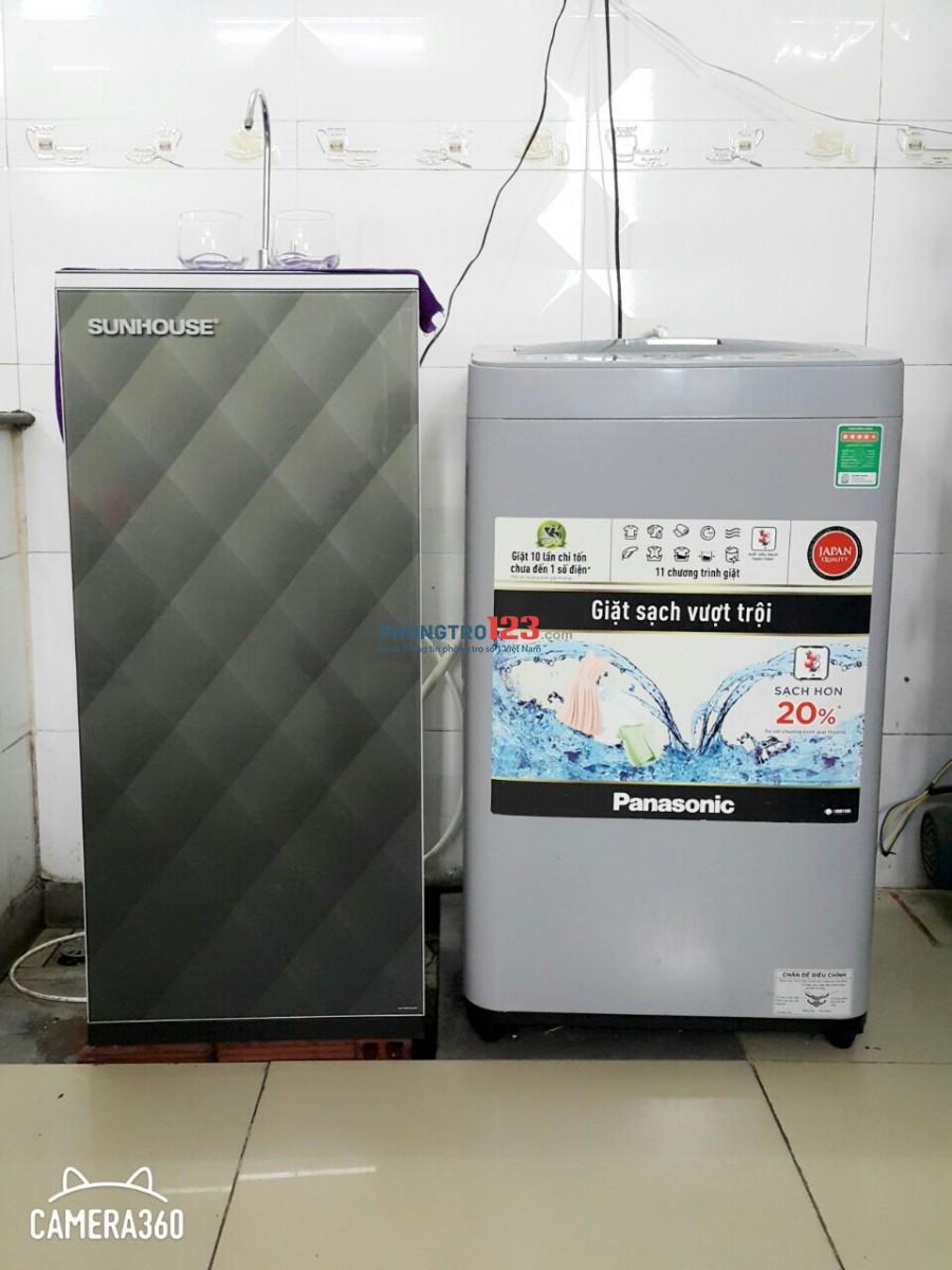 Phòng máy lạnh, giường, máy giặt đầy đủ tiện nghi chỉ 2tr3