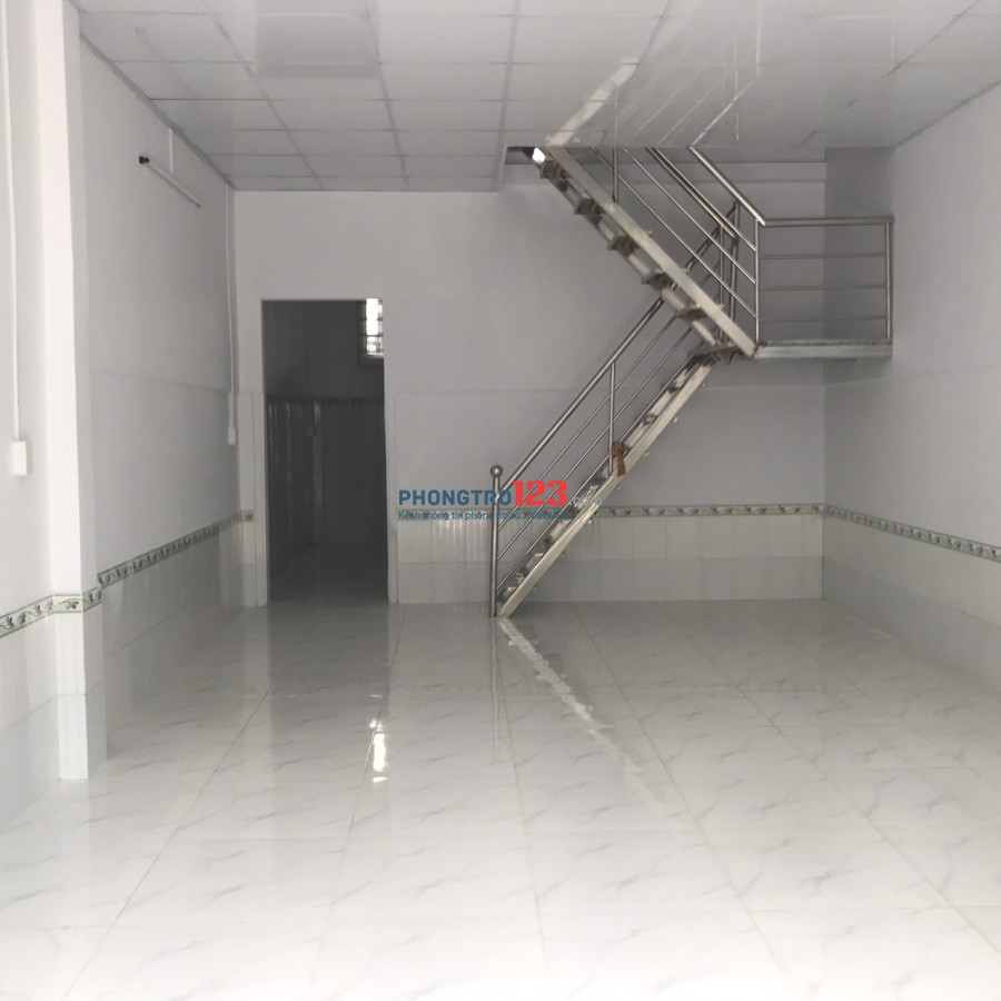 Cho thuê nhà mới nguyên căn 1 trệt 1 lầu 69m2 Tại hẻm 56 Gò Ô Môi P Phú Thuận Q7 giá 9tr/th
