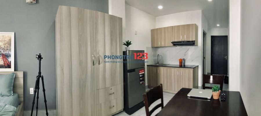 Cho thuê căn hộ studio mới - có ban công - khu vực bình thạnh