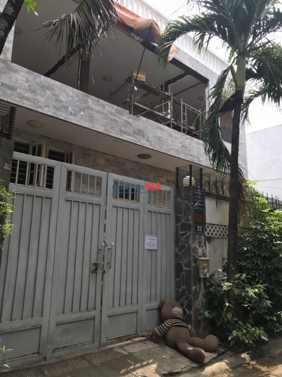 Chính chủ cho thuê mặt bằng tầng 1 DT 10x9 90m2 nhà MT số 22 Đường số 2 P Thảo Điền Q2