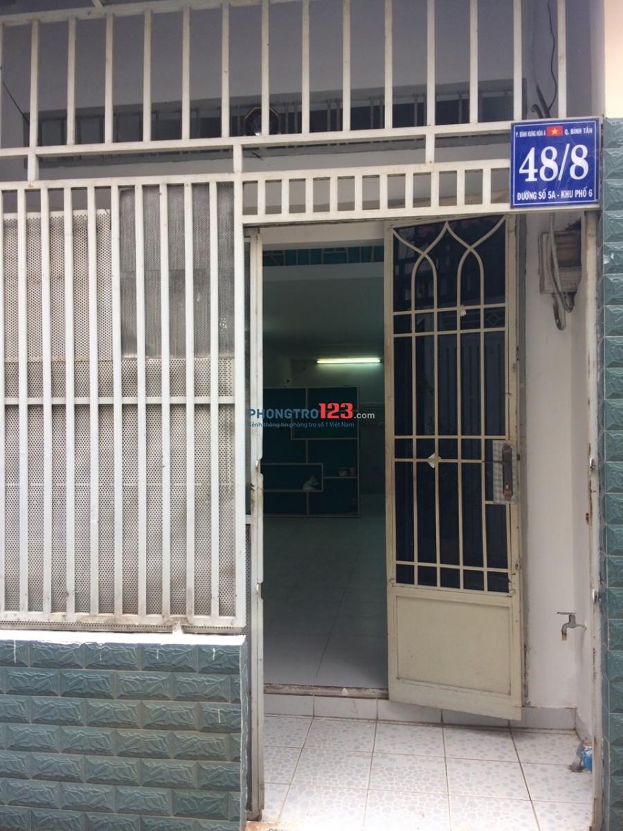 Nhà 1 trệt, 1 lửng giáp ranh Tân Phú