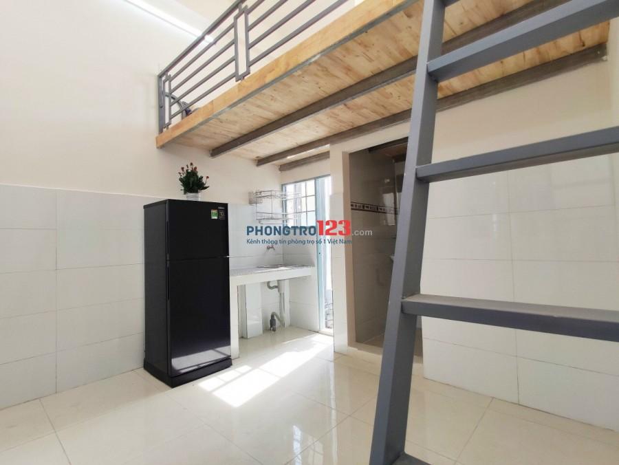 Phòng gác cao 2M, giờ giấc tự do, siêu thoáng mát tại Tân Bình, ngay Etown Cộng Hoà, NEW 100%