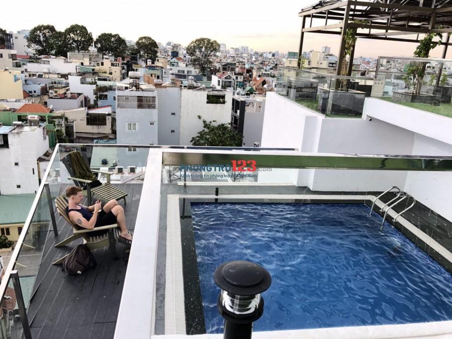 Cho thuê căn hộ cao cấp 2PN, hồ bơi, sân vườn free dịch vụ tại Lê Qúy Đôn, Phú Nhuận giá 16tr/tháng