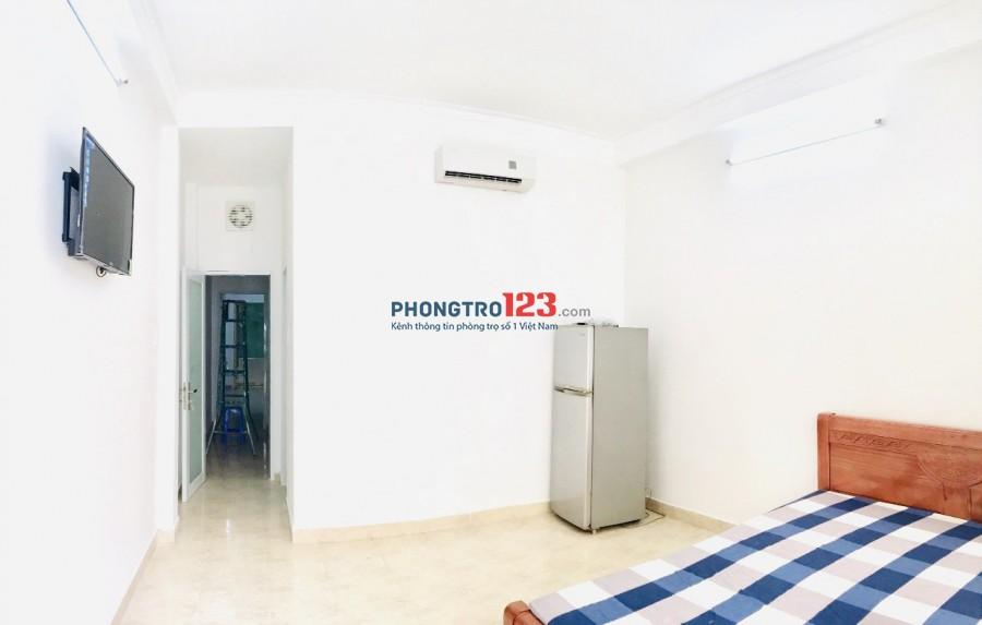 Phòng Phú Nhuận 30m2, BAN CÔNG giờ tự do, nội thất, bảo vệ
