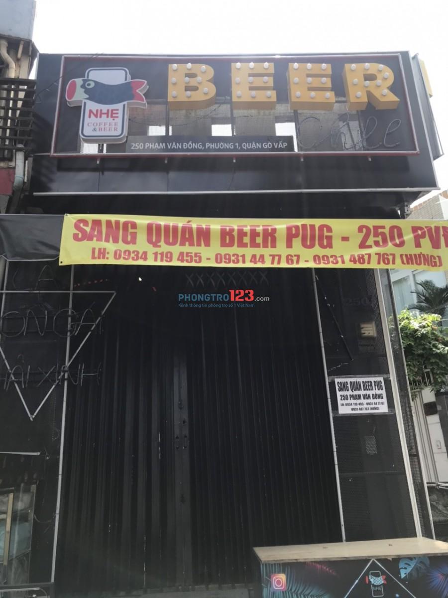 Chính chủ cần sang mặt bằng kinh doanh 36m2 mặt tiền 250 Phạm Văn Đồng P1 Gò Vấp