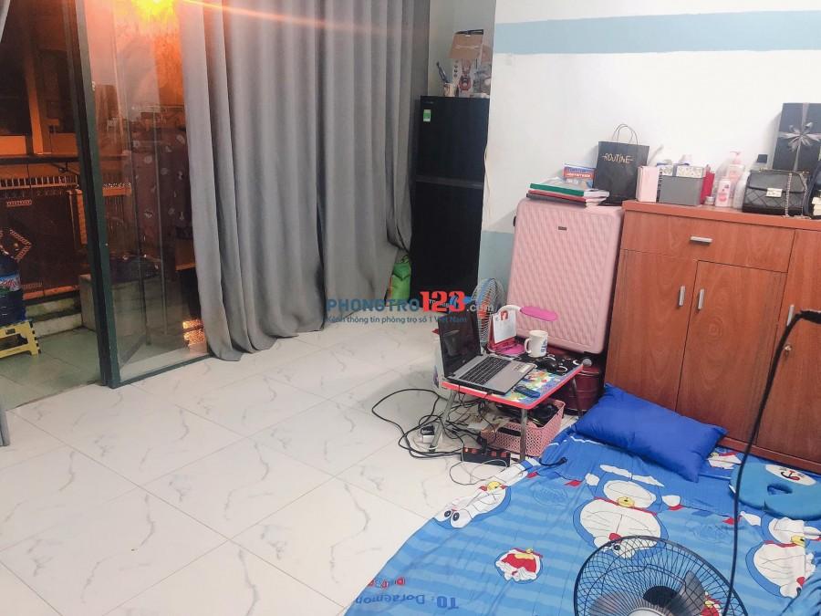 Trống 1 phòng như hình, 22m2, BAN CÔNG, WC riêng số 6 đường 25A p10 q6