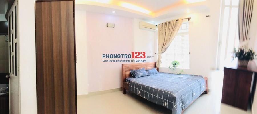 Căn hộ mini cho thuê 26m2, ban công rộng, free nước nét cáp, giờ tự do, full nội thất