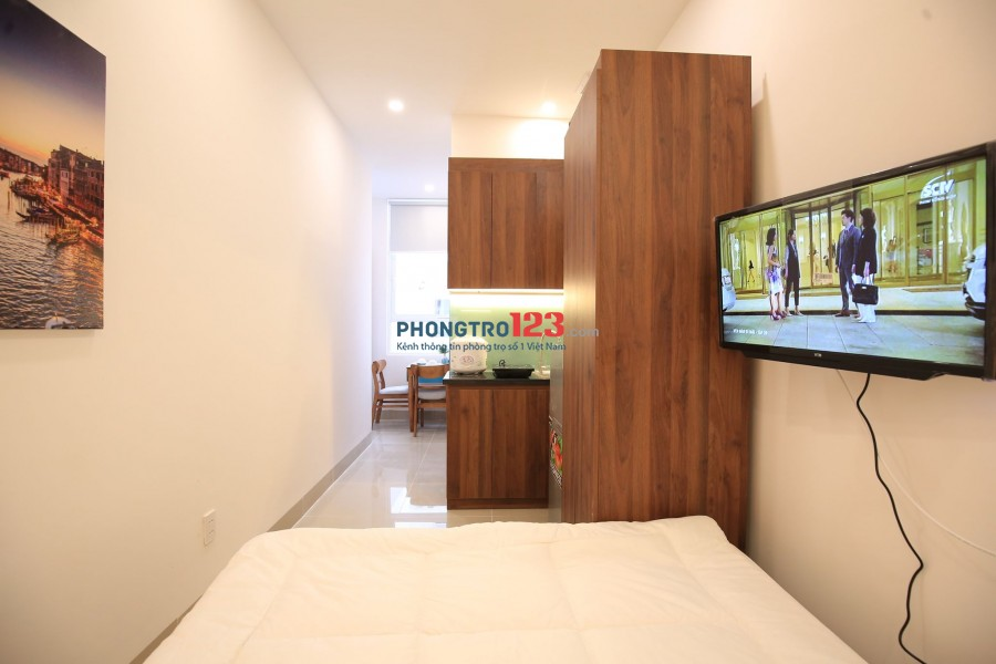 Căn hộ mini Nguyễn Kiệm, Phú Nhuận đầy đủ nội thất, cửa sổ lớn, an ninh