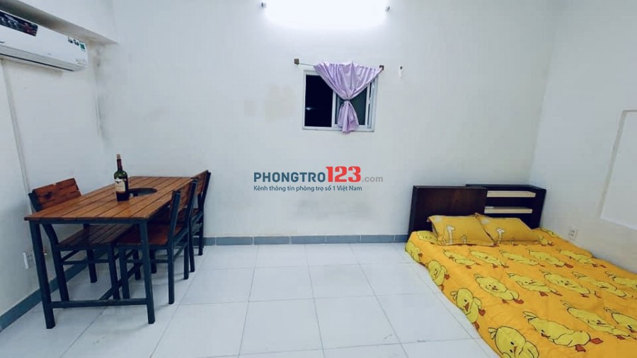 Cho thuê phòng 20m2 có máy lạnh máy giặt nội thất cơ bản