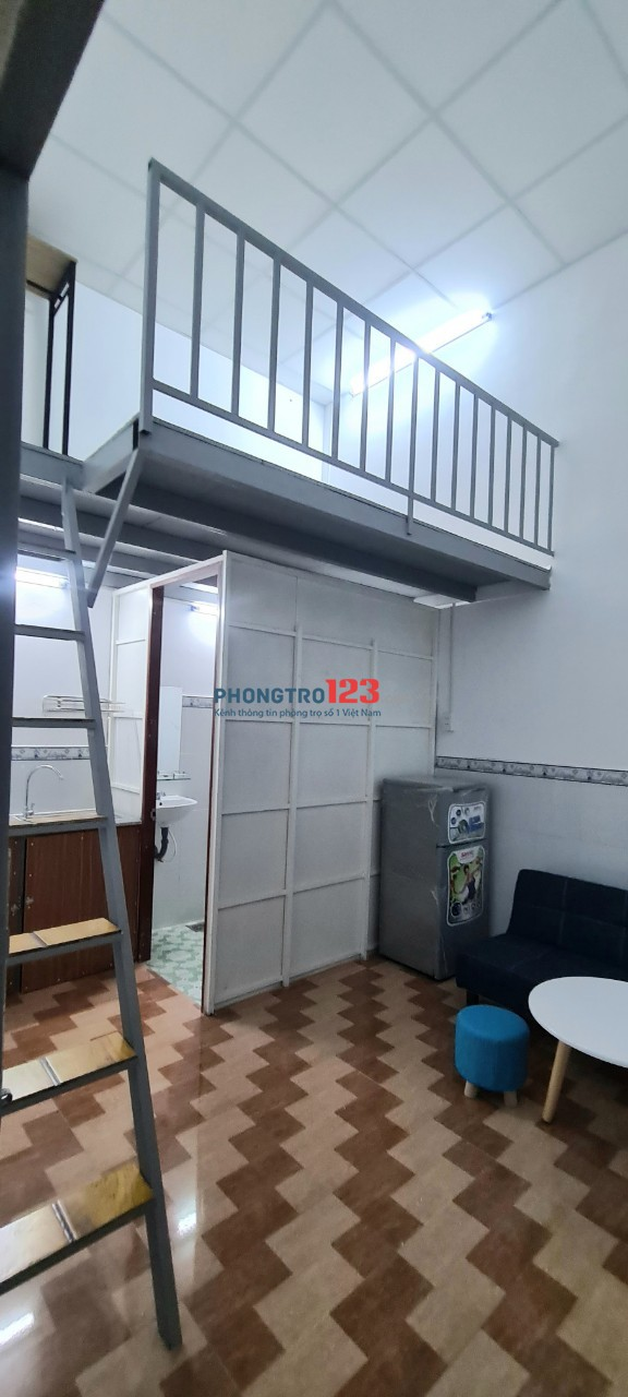 Phòng trọ cao cấp có gác cao nội thất mới toanh 100%