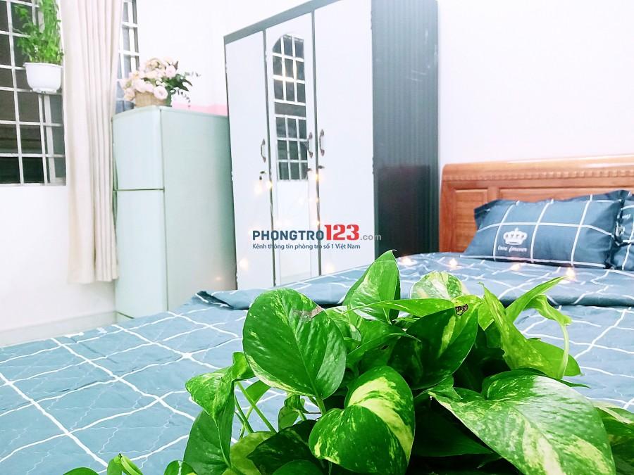 Gò Vấp phòng full nội thất, WC, giờ tự do, bao nước, cáp, net, 3TR5