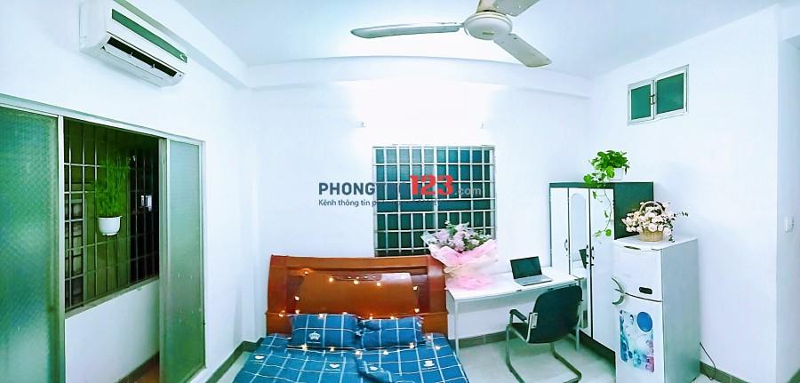 Phòng trọ Nguyễn Oanh cho thuê 25m2 free nước nét cáp, có nội thất, giờ tự do, ban công