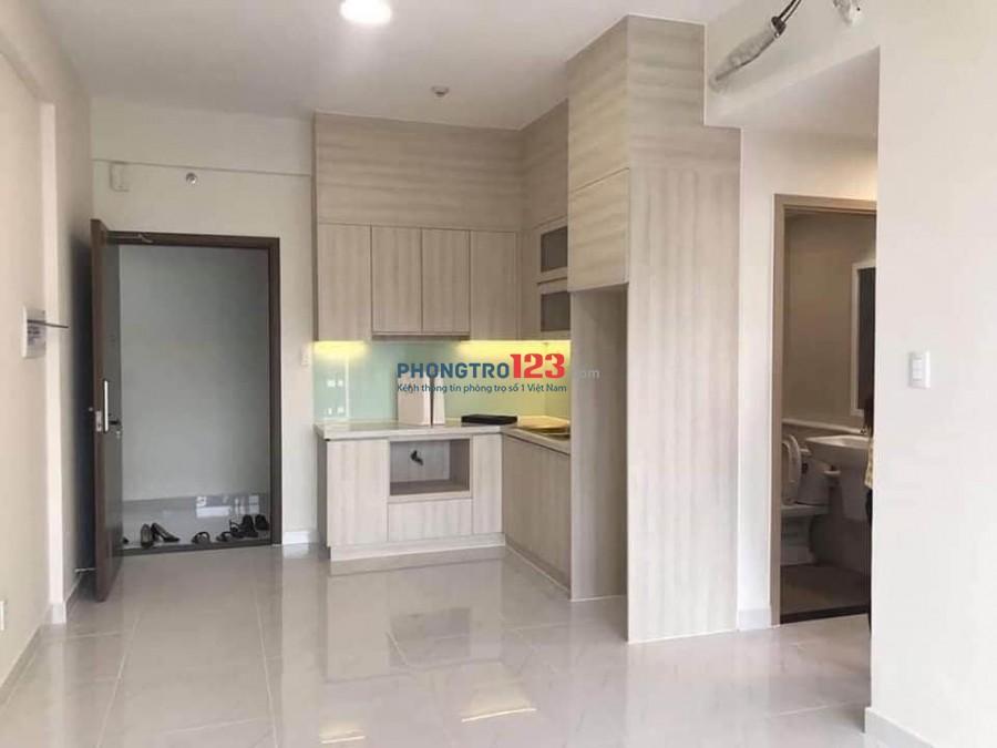 Cho thuê căn hộ Safira Khang Điền 2PN 6,2 tháng có rèm máy lạnh, tủ bếp, bếp từ, dàn phơi và hút mùi