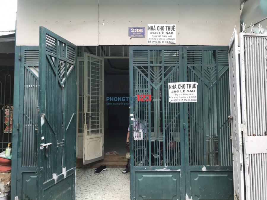 Cho thuê nhà NC 4x17 1 trệt 1 lửng Mặt tiền 286 Lê Sao Phú Thạnh Tân Phú giá 10,5tr/th