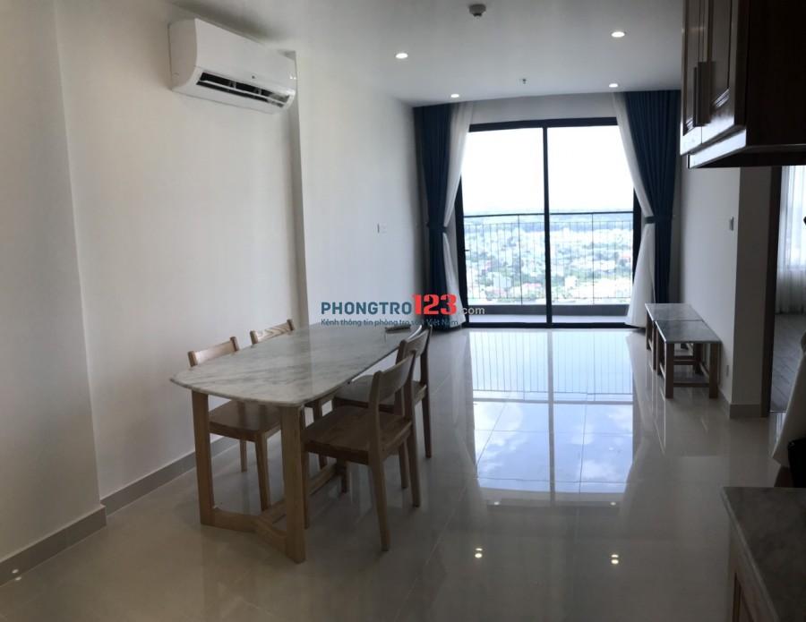 Cho thuê căn hộ mới 100% Vincity Nguyễn Xiển Q9 DT 59m2 2pn Full nội thất giá 7,5tr/th