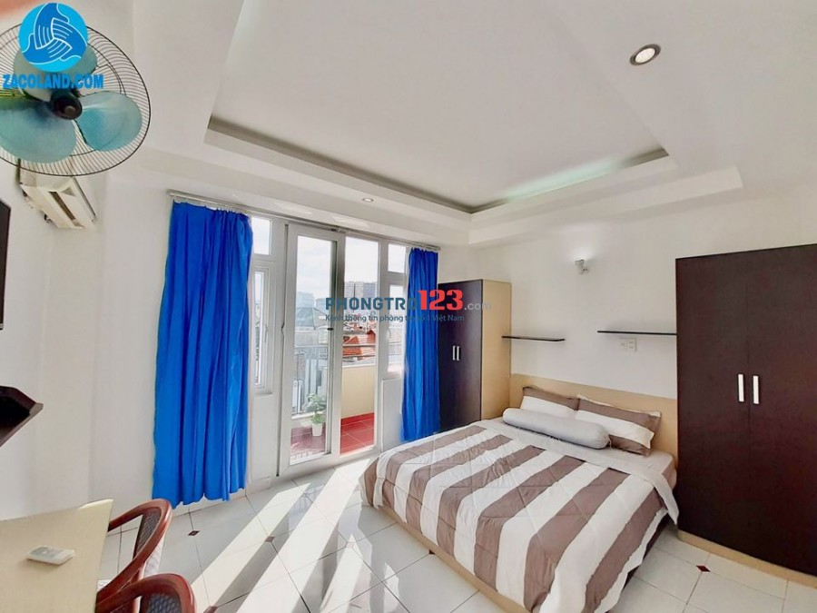 Căn hộ 2 phòng ngủ riêng biệt - full tiện nghi - máy giặt trong phòng đối diện công viên hoàng văn thụ