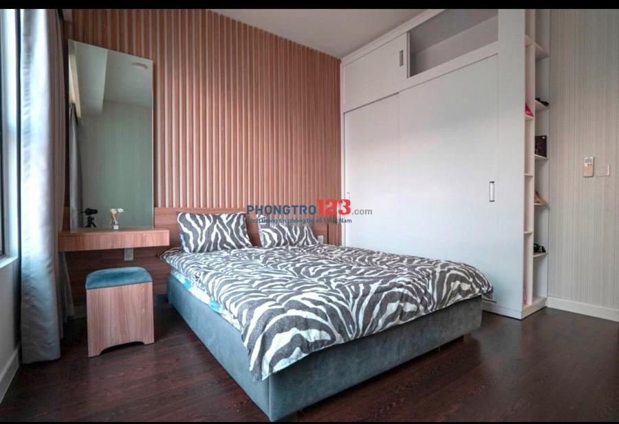 Cho thuê CH The Tresor 75m2 2pn Full nội thất tại 39 Đường Bến Vân Đồn P12 Q4 giá 15,5tr/th