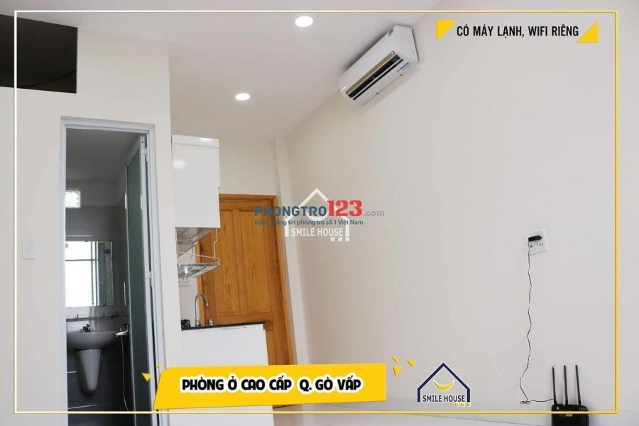 Phòng trọ đầy đủ nội thất sang trọng, 25m2, máy lạnh, máy giặt, tủ bếp, không thiếu thứ gì