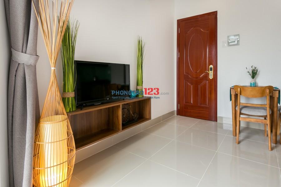 Cho thuê căn hộ mini Full nội thất Nguyễn Kiệm, Phú Nhuận cửa sổ lớn