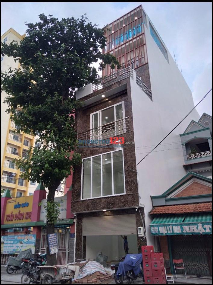 Cho thuê mặt bằng nhà mới xây 4,5x12 1 trệt 1 lầu nhà Mặt tiền Trung Mỹ Tây 2A Q12
